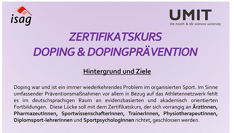 Poster Zertifikatskurs